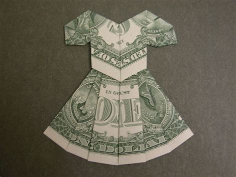 Money Origami Dress - 24 best origami gift ideas images on