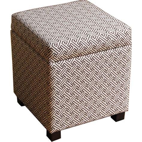 walmart ottoman cube cube ottoman brown and cream walmart com
