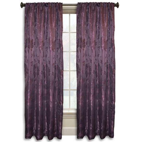 purple curtain rod lucerne 84 in l purple rod pocket curtain wpn7687 the