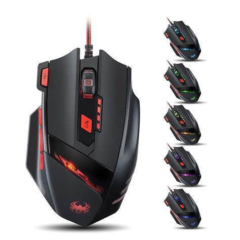 wired 8000 dpi precision gaming mouse mice for alienware laptop pc win 8 mac os ebay
