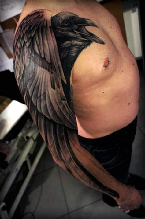 raven shoulder tattoo shoulder maybe that bird on your shoulder
