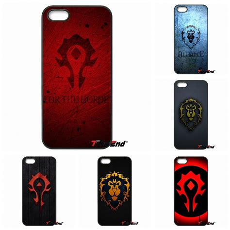 Samsung Galaxy S6 World Of Warcraft Horde Logo Casing Cover wow mobile promotion achetez des wow mobile promotionnels sur aliexpress alibaba