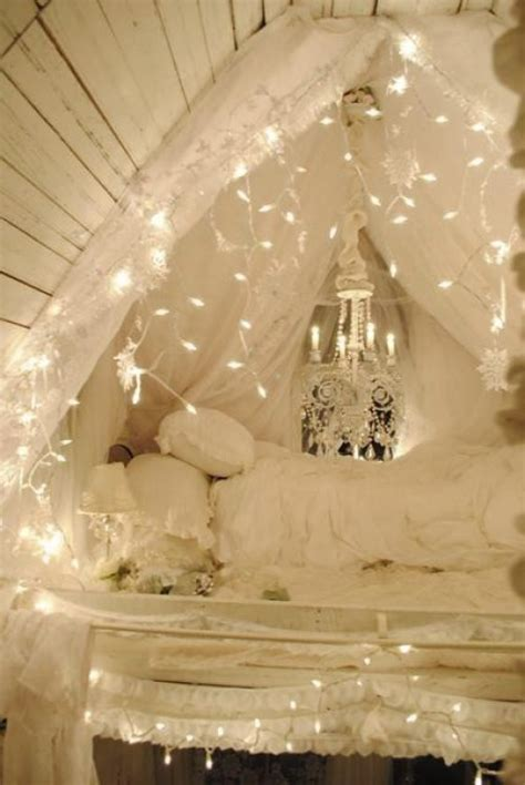 string lights for girls bedroom 45 ideas to hang christmas lights in a bedroom shelterness