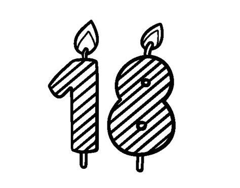 imagenes de cumpleaños numero 18 dibujo de 18 a 241 os para colorear dibujos net
