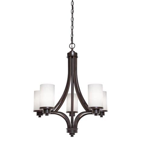Filament Design Archieroy 5 Light Oil Rubbed Bronze Rubbed Bronze Chandelier