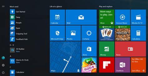 layout start menu windows 10 microsoft now preparing release of new start menu design