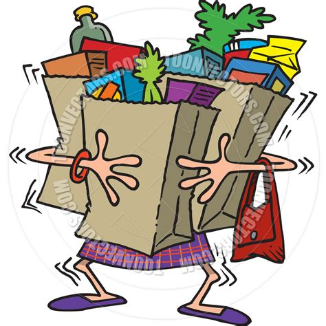grocery bag clipart carrying grocery bag clipart