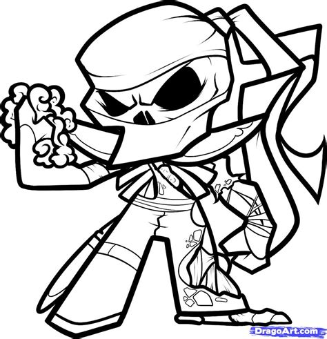 cool ninja coloring pages how to draw a zombie ninja zombie ninja step by step