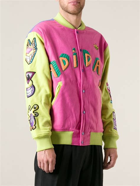 Jaket Adidas Firebirds Purple Pink adidas embroidered bomber jacket in pink for