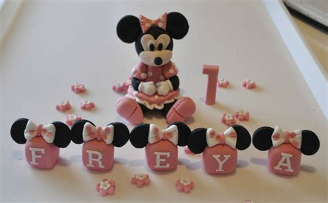 edible minnie mickey mouse baby girl cake topper decoration  blocks ebay