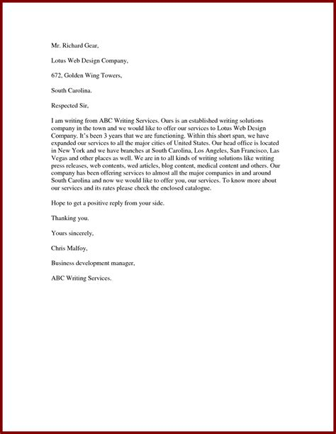 Cover Letter Offering Services sle letter for cleaning services cover