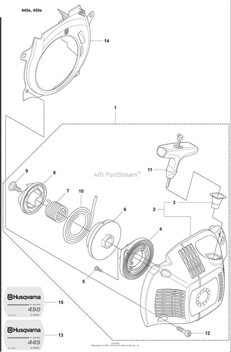 chainsaw diagram husqvarna 445 chainsaw parts imageresizertool