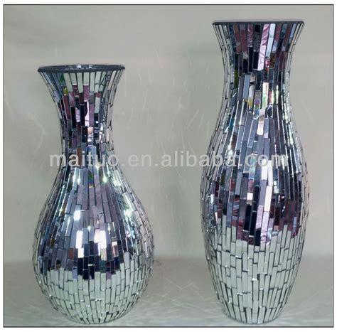 Mosaic Mirror Vase by Mirrored Mosaic Vase Jpg 800 215 789 Mosaic Pots Vases