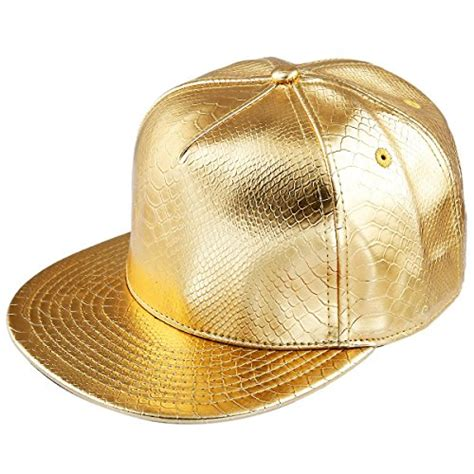 Imported Golden Flat Cap samtree unisex snapback hats adjustable hip hop flat brim
