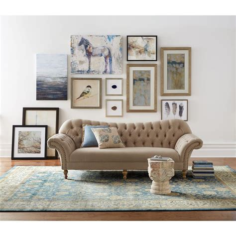 home depot home decorators home decorators collection arden dark beige linen sofa