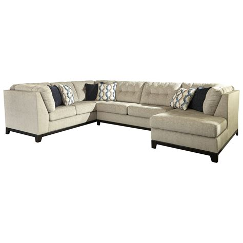 benchcraft sectional benchcraft beckendorf 3 piece sectional with right chaise