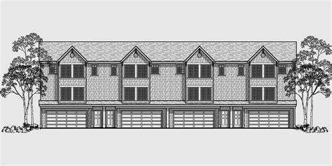 fourplex house plans fourplex townhouse house plan fourplex plan 3 story town house 3 bedroom townhouse f 546