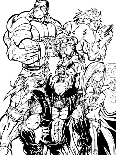 coloring page xmen 20 best coloring pages free to print series