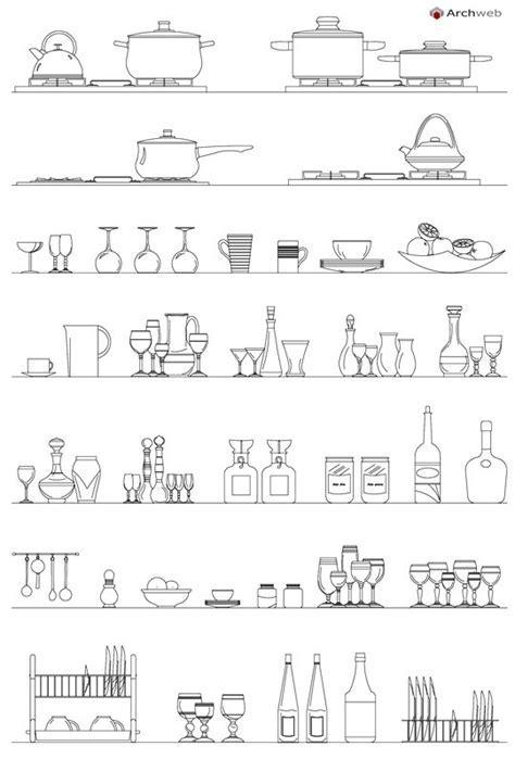 kitchen accessories dwg – Accessori per la cucina dwg kitchen ...