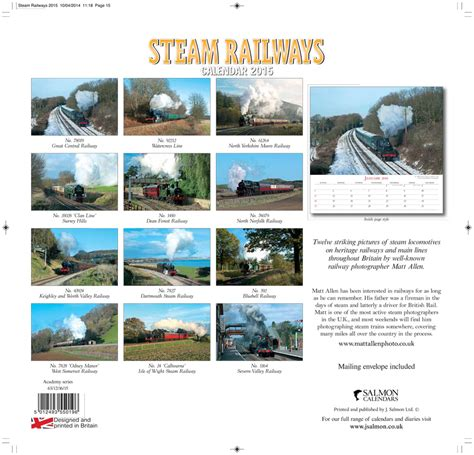 J Salmon Calendars Welcome To Matt Allen Photography Steam Railway