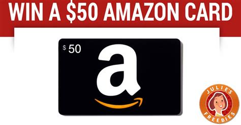 Can You Use 2 Gift Cards On Amazon - win a 50 amazon gift card julie s freebies