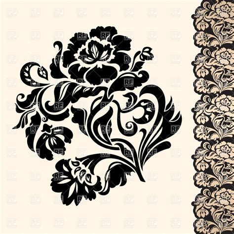 victorian designs victorian floral design element with lacy border royalty