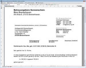 Rechnung Privatperson An Gmbh Abrechnung Verfahrensbeistand Betreuung De