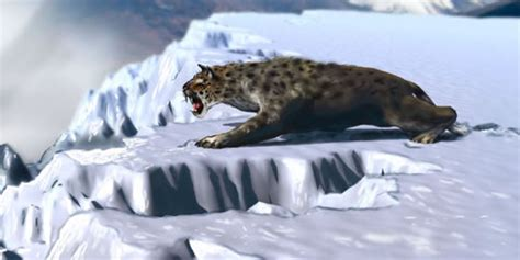 animal during great ice age scimitar cat illustrations multimedia a journey to a