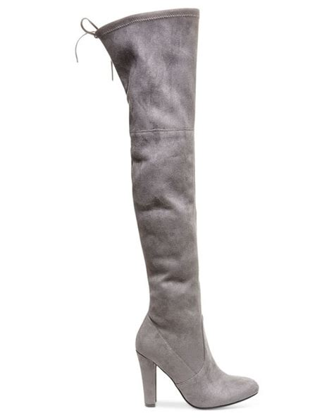 Steve Madden The Knee Boots by Steve Madden S Gorgeous The Knee Boots In Gray Taupe Save 33 Lyst