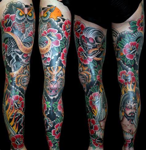 full leg sleeve tattoo 25 best ideas about leg tattoos on leg