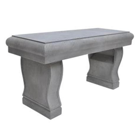 home depot garden benches 37 in x 18 25 in h cement garden bench pf7212c the