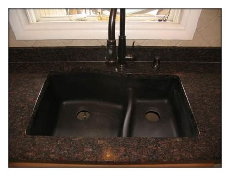 brown kitchen sink brown granite and oil rubbed bronze sink and faucet