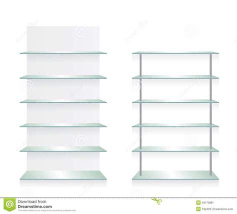 Shelf Store by Empty Shop Glass Shelves Stock Vector Image 43170981