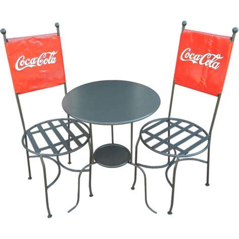 a coca cola bistro and chairs trio americana