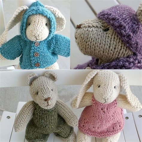 knitted rabbit quot rabbit and quot knitting pattern free ravelry