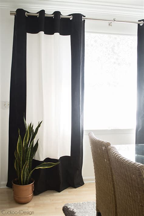 painted curtains black and white fabric painted curtains cuckoo4design
