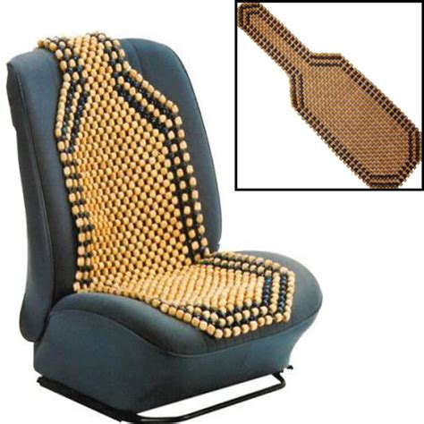 beaded wooden front seat chair cover cushion car