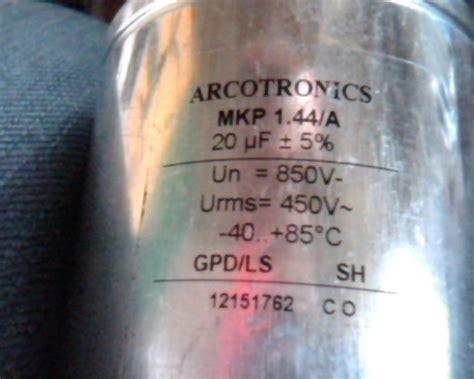 arcotronics capacitors mkp 20uf mkp 850v arcotronics 4 pcs capacitors