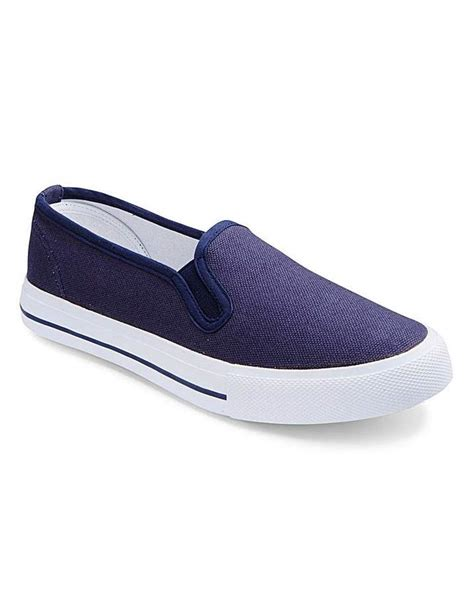 dunlop canvas slip on shoes eee fit shopstyle co uk flats
