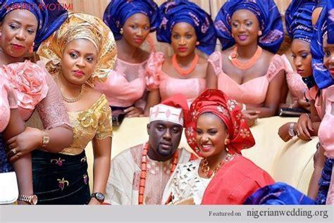 peach navy blue nigerian nigerian wedding ore iyawo peach and blue lace and velvet