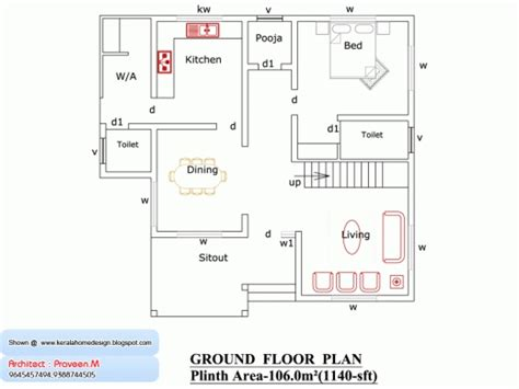 3 bedroom ground floor plan kerala free 3 bedrooms ground floor plans house plan