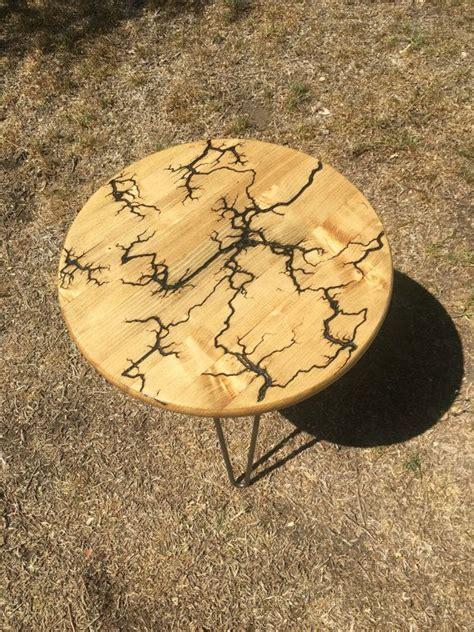 lichtenberg side table  redesignbklyn  etsy wood art