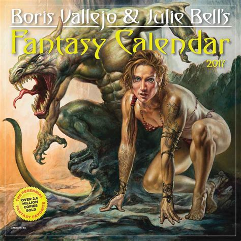 libro cal 2017 fantasy art of boris vallejo and julie bell s fantasy calendar 2017 calendar club uk