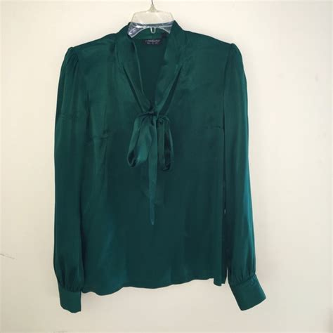 Emerald Blouse by 79 Topshop Tops Topshop Emerald Green Silk Neck Tie