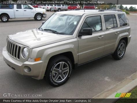 jeep patriot 2010 interior light sandstone metallic 2010 jeep patriot sport