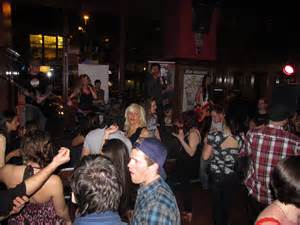 visit the blind pig speakeasy for drinks tunes