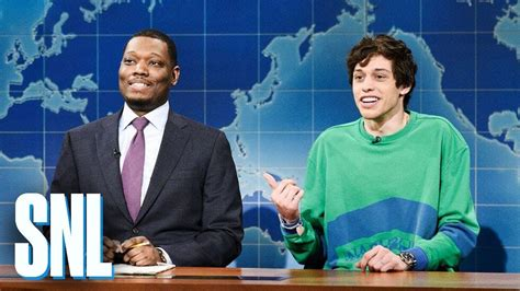 pete davidson update snl weekend update pete davidson on colin jost michael che