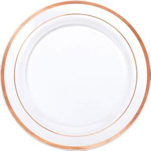 White Rose Gold Trimmed Premium Plastic Dinner Plates 10ct ... Luau Food Ideas For Party