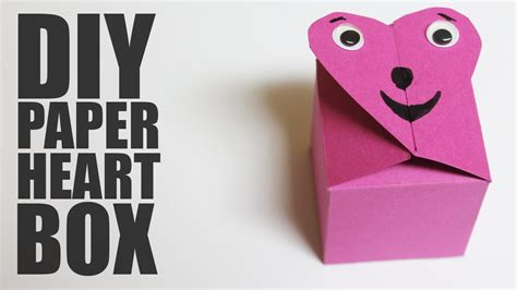 How To Make A Box From A Of Paper - how to make a paper box diy box
