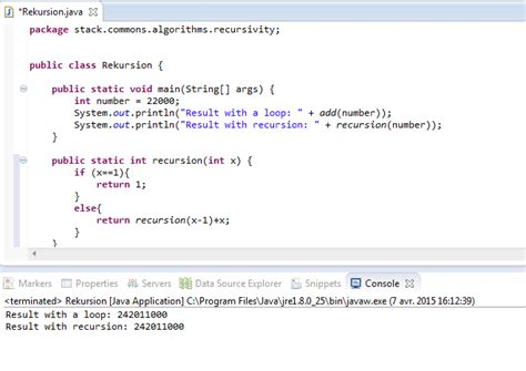 java tutorial recursion loops add recursion in java why ist the maximum so low